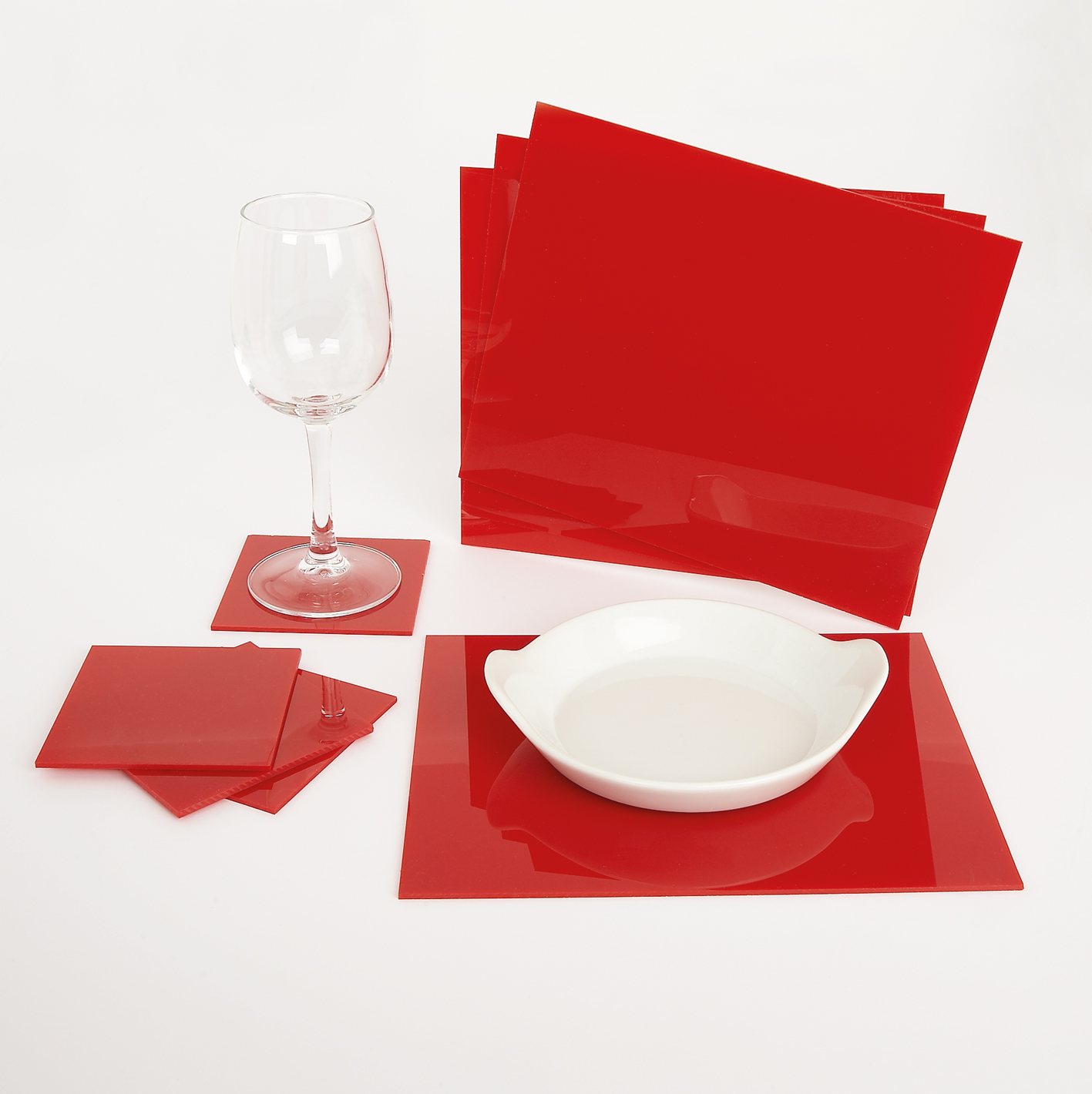 3mm acrylic placemats and coasters